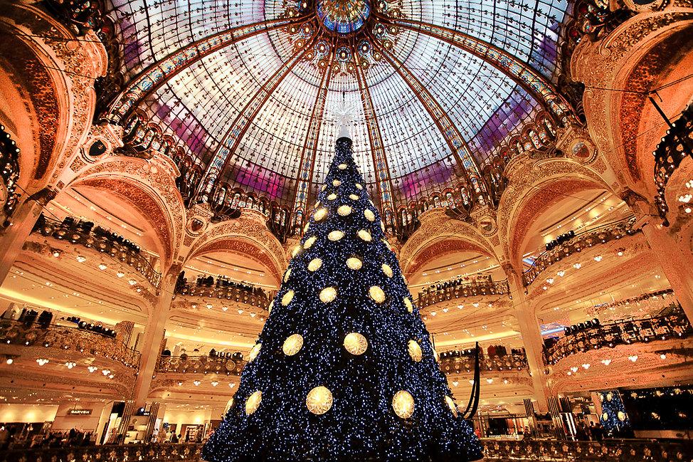 La coupole des Galeries Lafayette à Noël