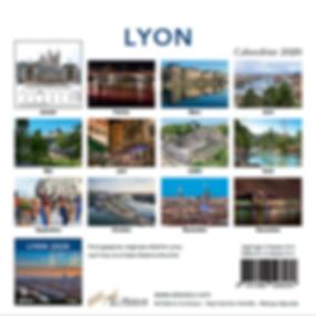 Verso du calendrier Lyon 2020
