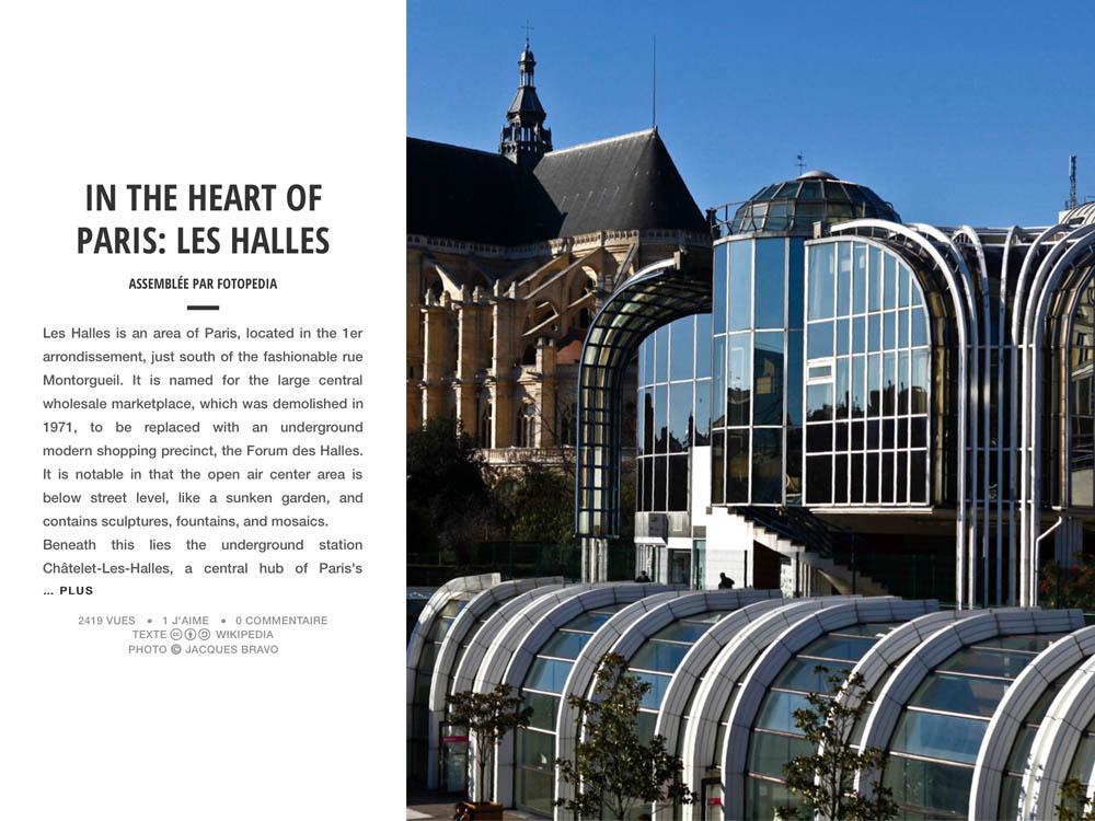 IN THE HEART OF PARIS: LES HALLES