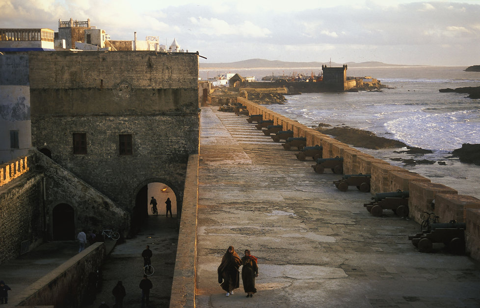 Remparts Essaouira, Maroc. Jacques Bravo