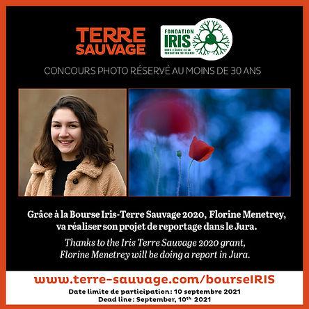 BOURSE IRIS, Florine Menetrey, paysage du Jura