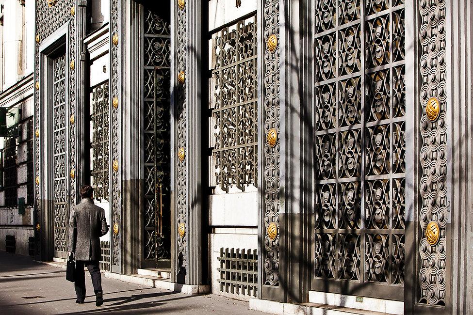 Le siège social de la banque BNP Paribas sur le Boulevard des Italiens