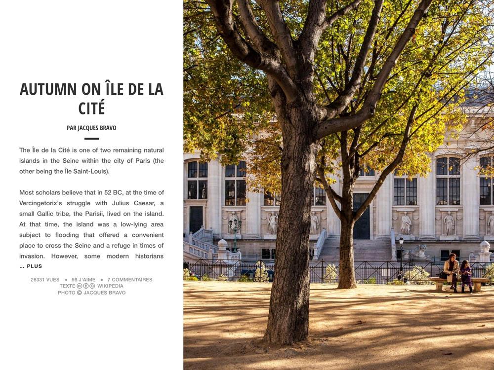 AUTUMN ON ÎLE DE LA CITÉ