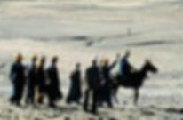 essai d'une mule avant de l'acheter à Imilchil au Maroc