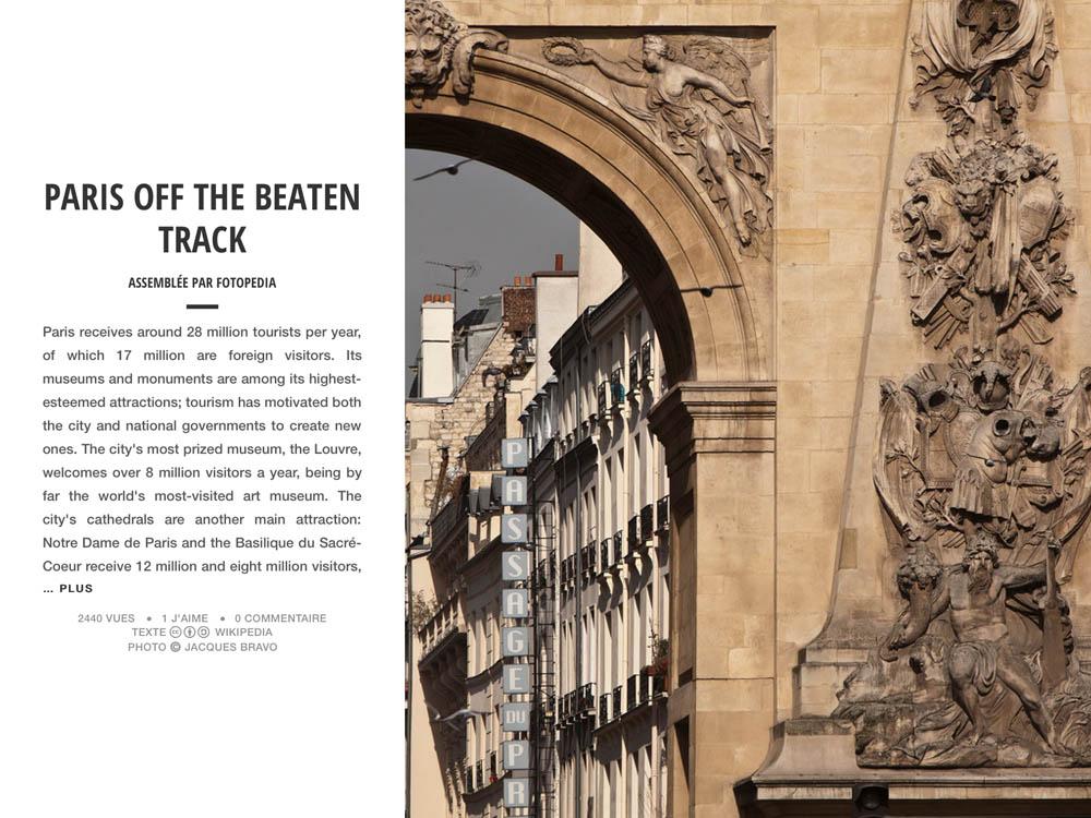 PARIS OFF THE BEATEN TRACK
