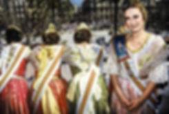 Les reines de la fête pendant les fallas de Valence en Espagne.Photographies de Jacques Bravo