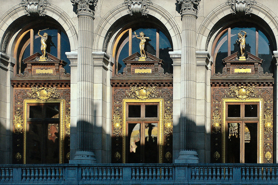 La façade de l'Opéra comique
