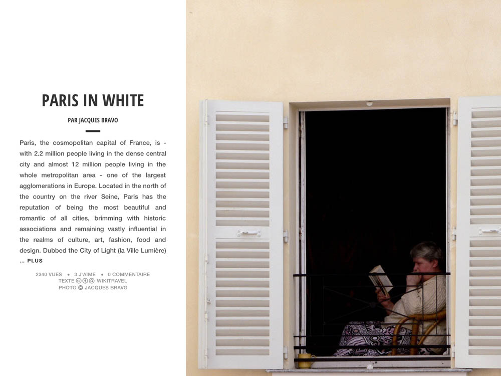 PARIS IN WHITE