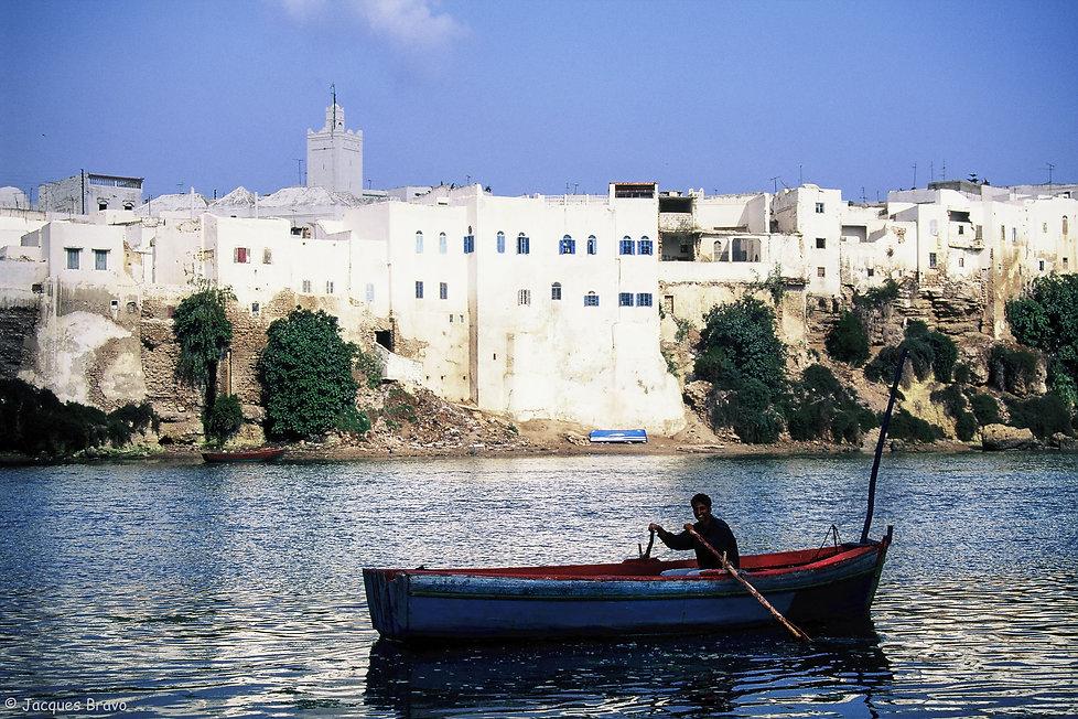 Azemmour vu de Oum Errabiaa, Azemmour. Maroc, Jacques Bravo