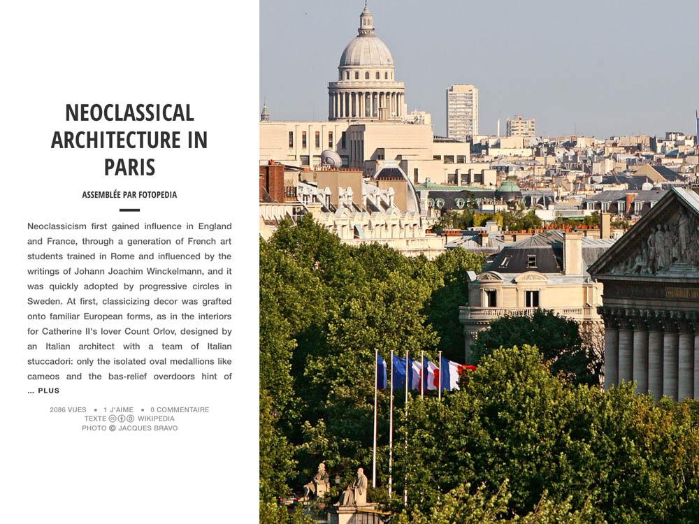 NEOCLASSICAL ARCHITECTURE IN PARIS