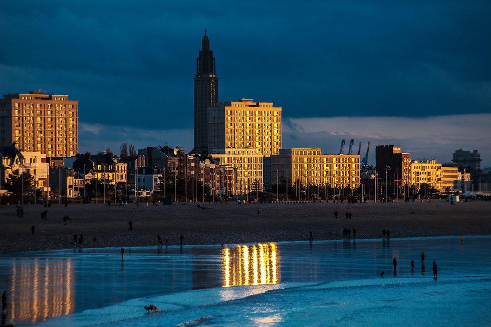 Le Havre vue depuis la plage