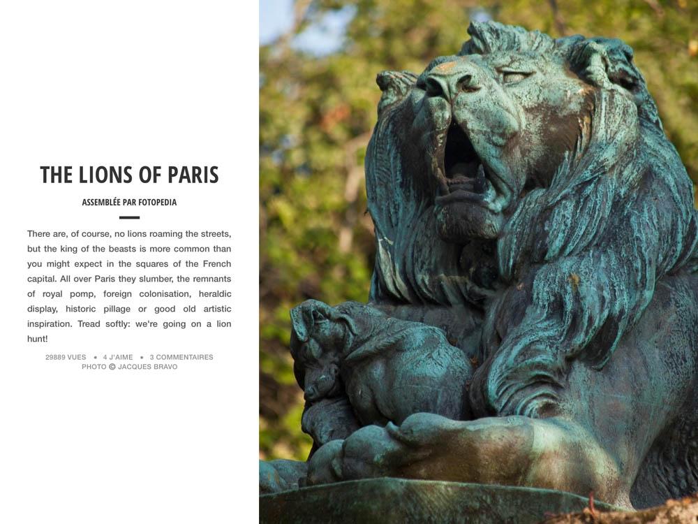 THE LIONS OF PARIS