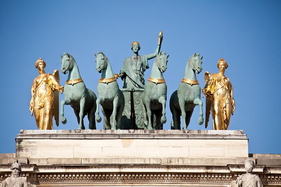 Quadrige par François Joseph Bosio, Arc de Triomphe du Carrousel