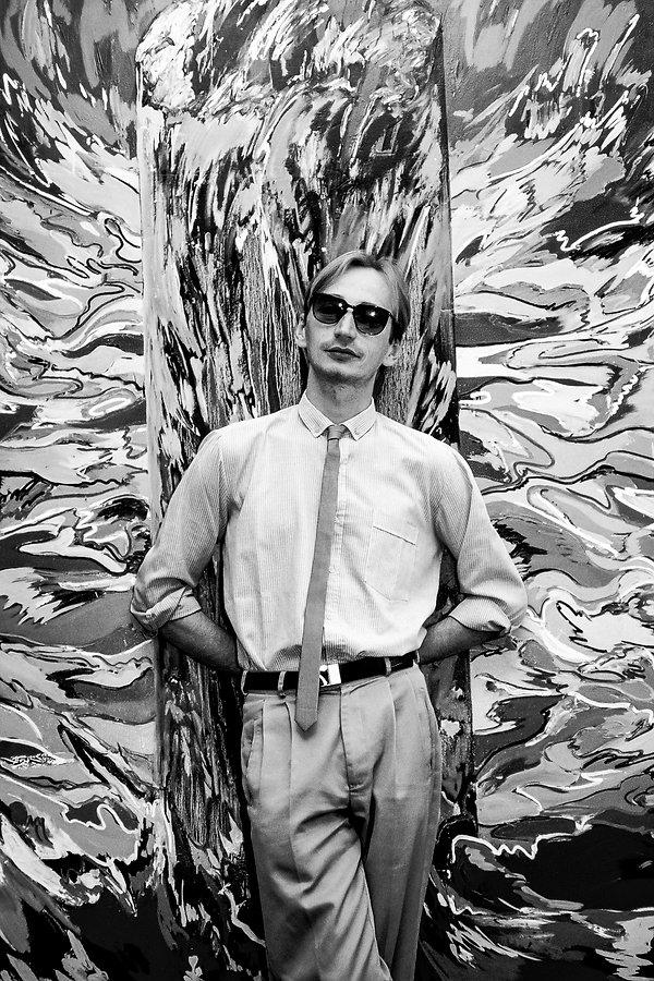 Le peintre Kalman Pollacsek. Photographie de Jacques Bravo