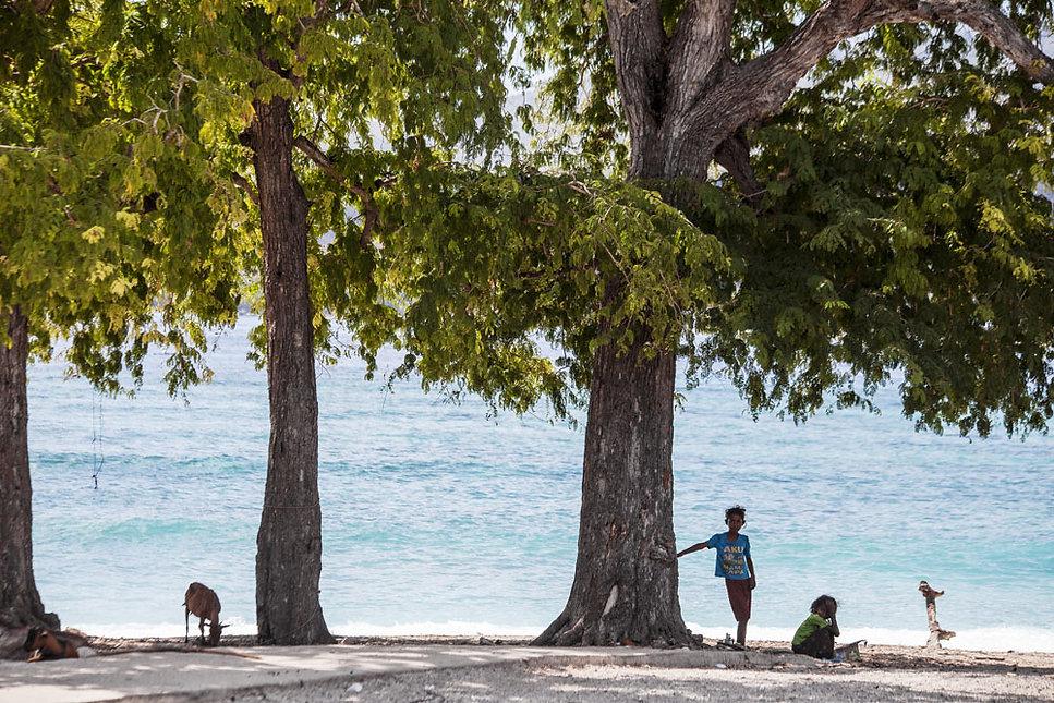 Sur l'ile de Marisa dans les petites iles de la sonde en Indonésie, Jacques Bravo