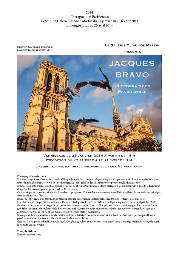 Exposition photo sur Paris par Jacques Bravo