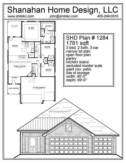 SHD Plan #1284 1781 sqft