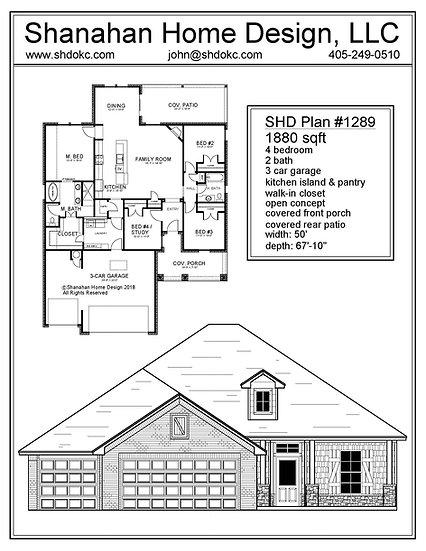 SHD Plan #1289 1880 sqft