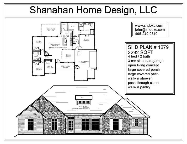 SHD Plan #1279 - 2292 sqft