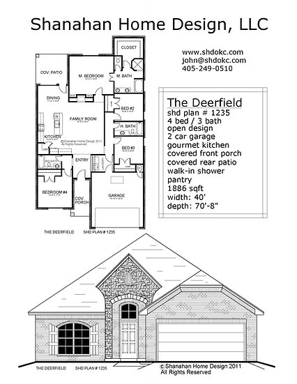 The Deerfield 1886 sqft