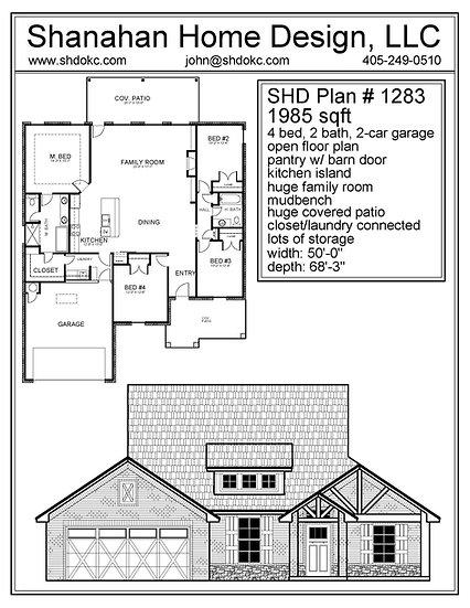 SHD Plan #1283 1985 sqft