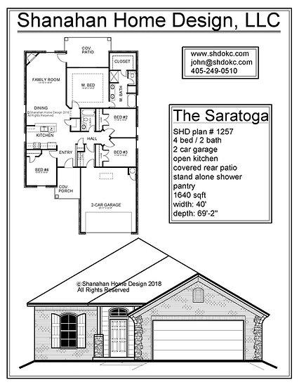 The Saratoga 1640 sqft