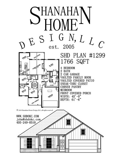 SHD Plan #1299 1766 sqft