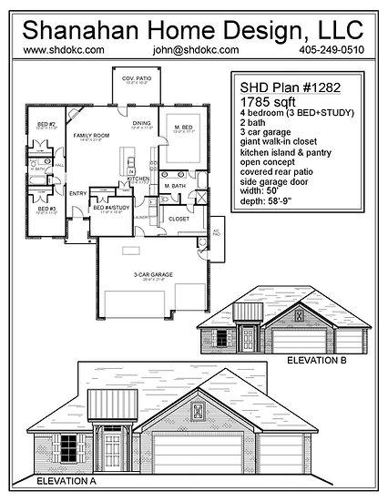 SHD Plan # 1282     1785 sqft