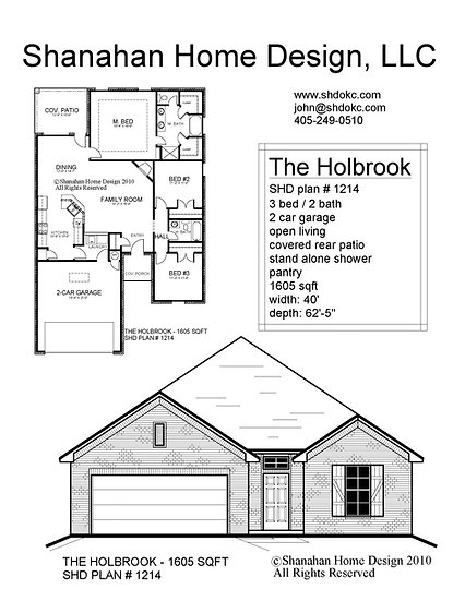 The Holbrook 1605 sqft