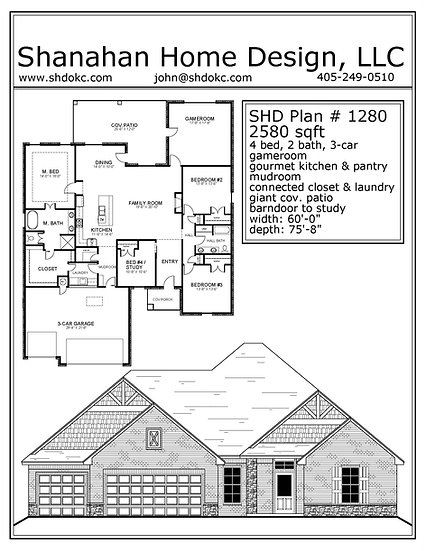 SHD Plan # 1280     2580 sqft