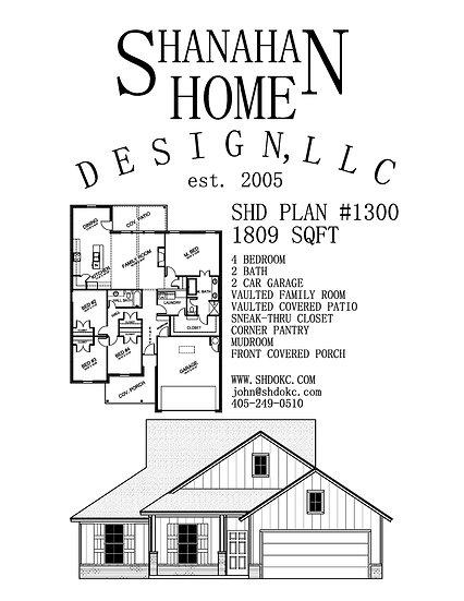 SHD Plan 1300 1809 sqft