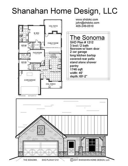 The Sonoma 1746 sqft