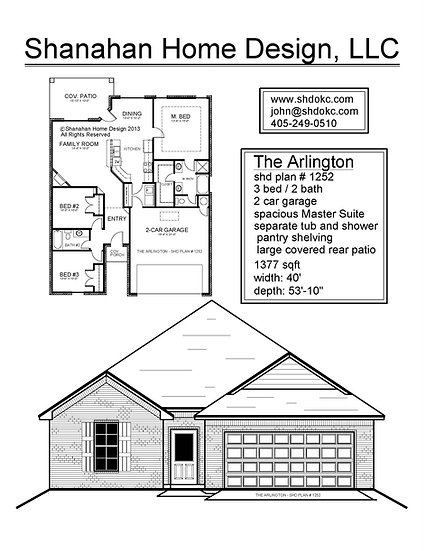 The Arlington 1377 sqft