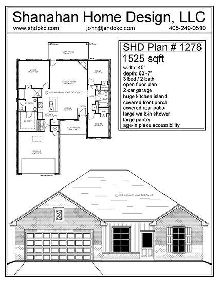 SHD Plan # 1278 1525 sqft