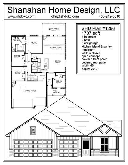 SHD Plan 1286 1787 sqft