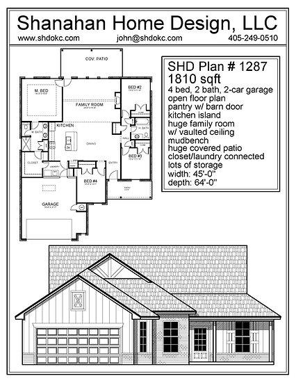 SHD Plan 1287 1810 sqft