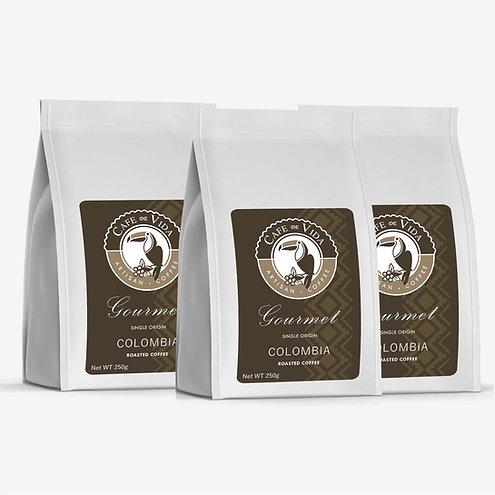3 x 250g Bag Premium Colombian Coffee (Ground)