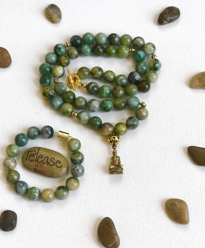 African Jade neck and brace