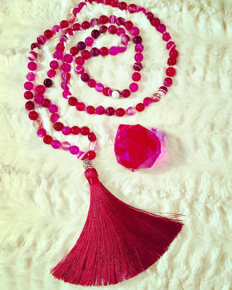 pink striped agate