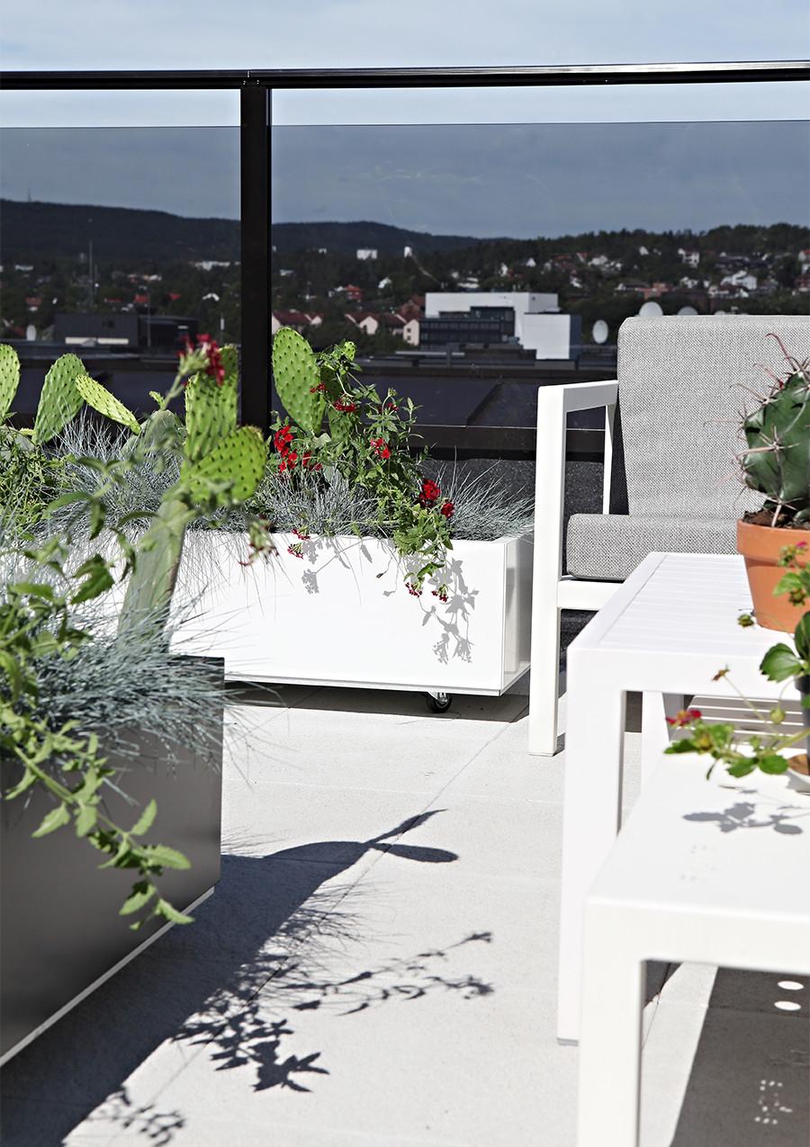 Blomsterkasser til takterrasse