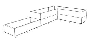 BEDD vinkel 300x180x60 h25/50