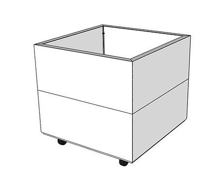 BEDD 60x60 cm h:50 cm m/bunn og hjul