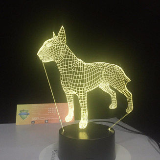 Novelty Dog LED lamp perfect for a personlized gift for dog lovers.