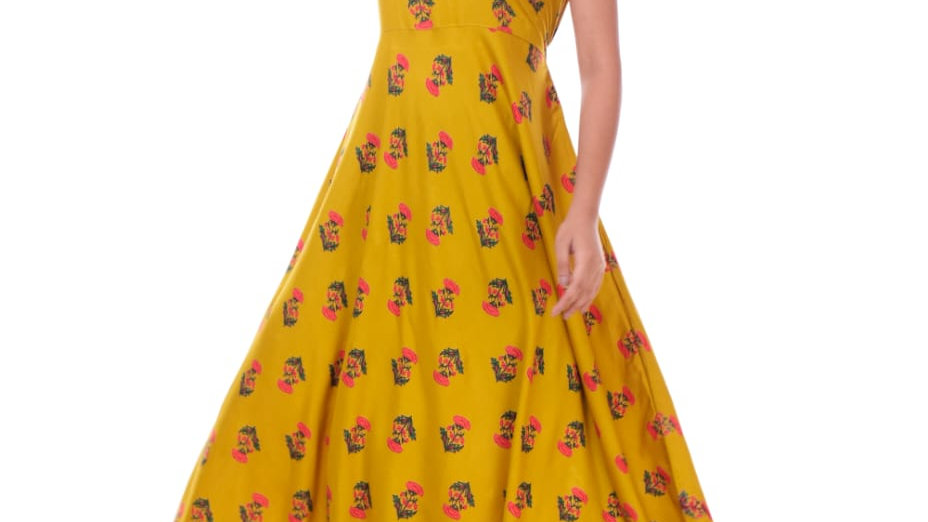 Block Print Floral Dress
