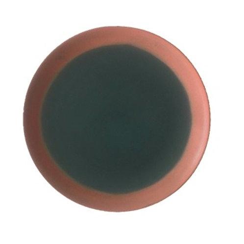 Plate, Round Rimless, 18 cm - Ariane Copper Splash (Set of 12)