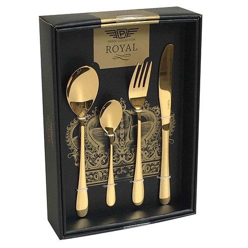Giftbox Cutlery Gold, 24 pieces - Princess Sun