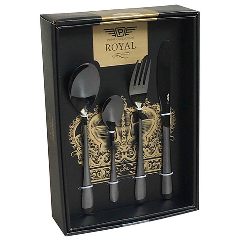 Giftbox Cutlery Black, 24 pieces - Princess Carbon