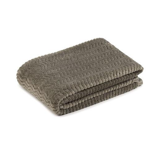 Fleece blanket, 100x150 cm, Silvergrey - Gozze Memphis