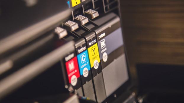 Тушь Проверка принтера