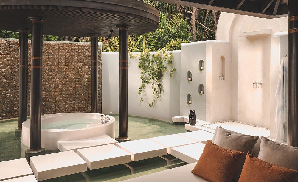 Anantara Kihavah Maldives Family Beach Pool Villa Bathroom